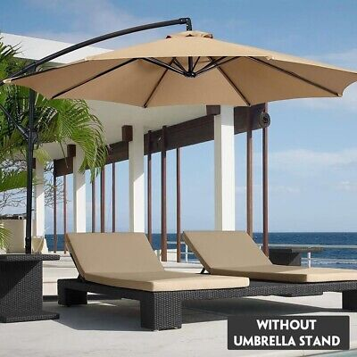 2M UV-Resistant Sunshade Umbrella Cover Waterproof Beach Garden Parasol Canopy • 29.36£