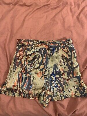 Topshop Silk Painted Shorts Size 8 • 1.10£