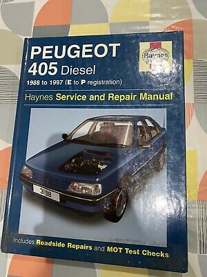 Haynes Service And Repair Manual Peugeot 405 Diesel • 7£