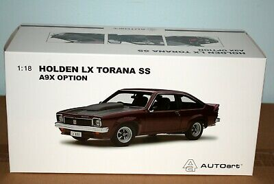 AU256 • Buy Biante 1:18 Holden LX Torana SS A9X Option Madeira Red Brand New Never Opened