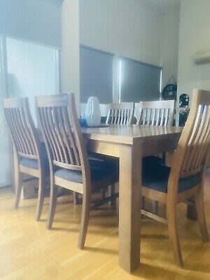 AU600 • Buy Solid Dark Timber 6 Seater Dining Table