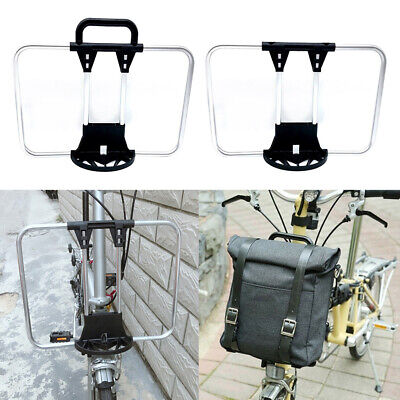 £27.55 • Buy Alloy Bicycle Bike Front Pannier Rack Carrier Block For   Folding Bike