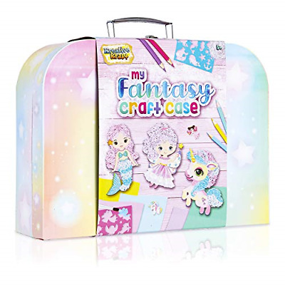 KreativeKraft Art Sets For Girls With Unicorn Stickers, Arts And Crafts For Box • 14.53£