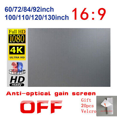 AU38.99 • Buy 60-130  Foldable Projector Screen 16:9 Home Cinema Theater Outdoor 3D Projection