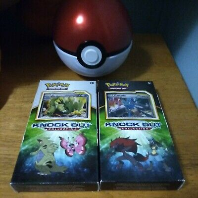 $40 • Buy Pokemon Knock Out Collection X2 Tyranitar And Lucario XY 2 Packs Each + More