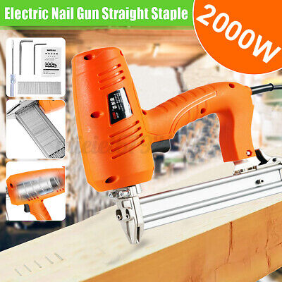 2300W Electric Heavy Duty Staple Gun Framing Straight Nail Woodworking Tool • 38.37£