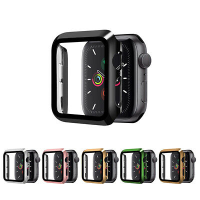 AU8.99 • Buy Hard Slim Dual Color Full Case Cover Screen Protector For Apple Watch 6 5 4 3 2