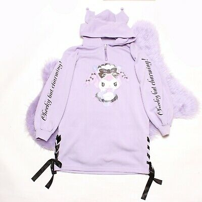 $ CDN135.01 • Buy Kuromi Sanrio Hoodie Purple Sweatshirt Dress M/L
