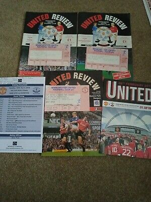 Manchester United With Tickets Programs 1992  Plus Two Wembley Documents • 8£