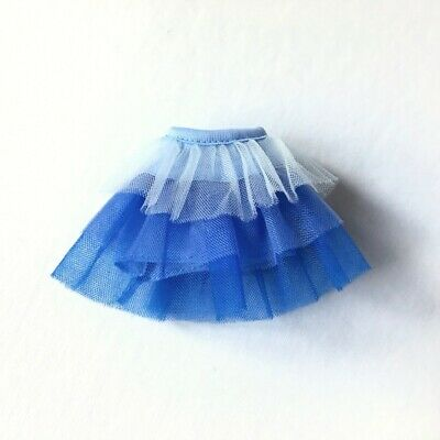 Unboxed Creatable World Skirt Dc-725 Blue Frill Net 3 Tiers Fit 10  11  Doll 1:6 • 6£