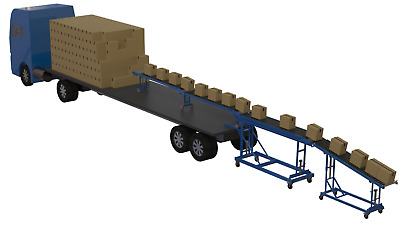 £7250 • Buy Container Unloading Conveyor Without Loading Bay Telescopic Roller Conveyor,
