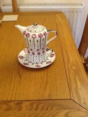 Vintage LEONARDO COLLECTION FLORAL TEAPOT FOR ONE With CUP And SAUCER,Great Gift • 15.90£