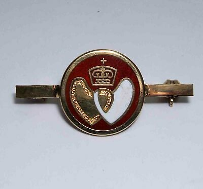 Vintage  Silver Gilt Blood Transfusion Badge Solid Silver • 10£
