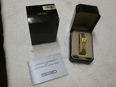 $ CDN31.70 • Buy Vintage 90's SEIKO Analog Quartz Gold Tone SXF556 Womens Watch Wristwatch NMIB