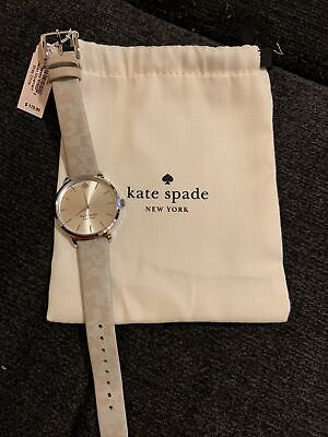 $ CDN62.65 • Buy Kate Spade Metro New Worker Watch, Stainless And Gray Print Leather, Ksw1669