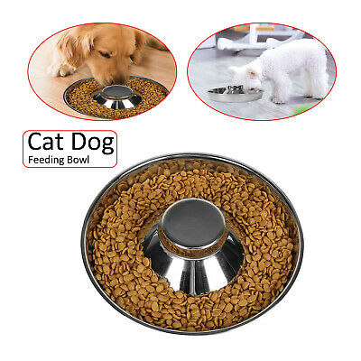 £7.99 • Buy Feeder Bowl Stainless Dish Puppy Dog Cat Litter Food Feeding Weaning