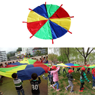 6 ~ 16ft Multi-colored Kids Play Parachute With Handles Cooperative Games Toy • 20.24£