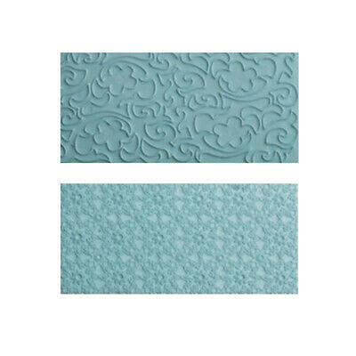 2x Flower Lace Sugar Craft Fondant Ice Cake Embossing Mold DIY Cookie Cutter • 3.50£