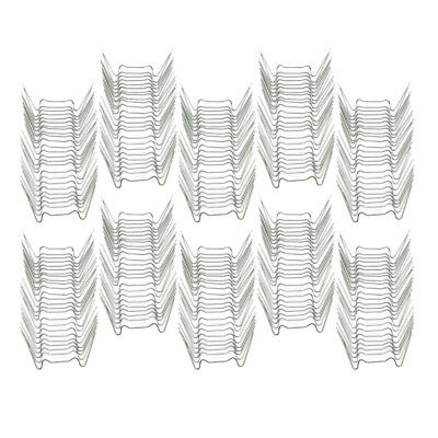 250pc Greenhouse W Shape Glazing Clips Stainless Steel Accessories Universal • 15.68£