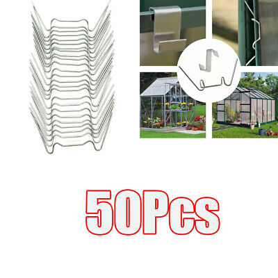 50Pcs W Glazing Clips Stainless Replacement Accessories For Greenhouse • 4.83£