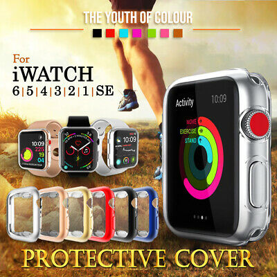 AU8.99 • Buy For Apple Watch IWatch Series SE 6 5 4 3 2 Clear Case Full Cover 38 40 42 44mm