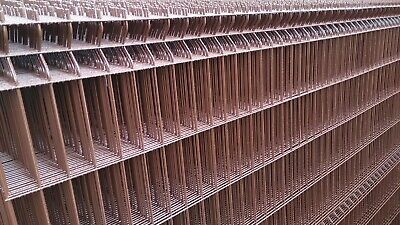 1.7m High V Mesh Brown Panel Security Fencing System Steel Wire Post 1 Meter • 15.95£