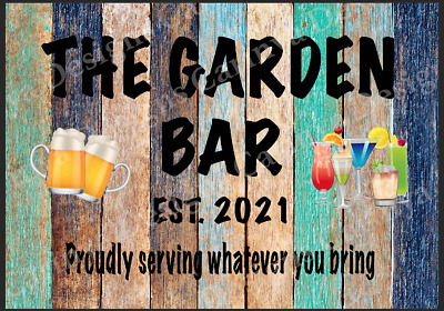 £8.09 • Buy Personalised Garden Bar Beer Shed Metal Sign Wall Plaque Garage Pub Man Cave Sun