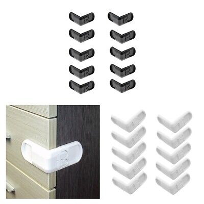 £12.34 • Buy 20x Right Angles Baby Safety Locks Proof Latch For Cabinet Door Toilet Seat