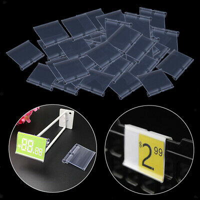 £7.70 • Buy Pack Of 50 Clear Plastic Price Tag Label Holder For Shops Warehouse Durable