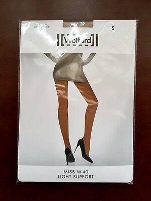 New Wolford Tights Miss W Light Support Size S In Caramel • 16.99£
