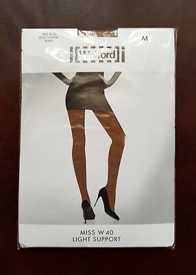New Wolford Tights Miss W Light Support Size M In Caramel • 16.99£