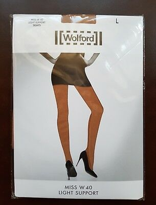 New Wolford Tights Miss W Light Support Size L In Gobi • 16.99£
