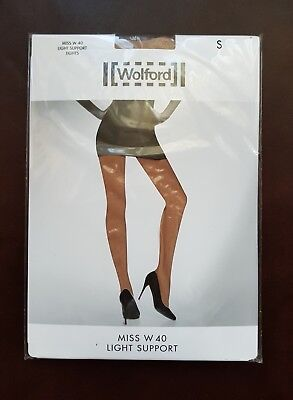 New Wolford Tights Miss W Light Support Size S In Gobi • 16.99£