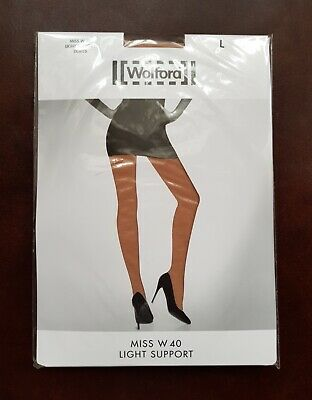 New Wolford Tights Miss W Light Support Size L In Fairly Light • 16.99£