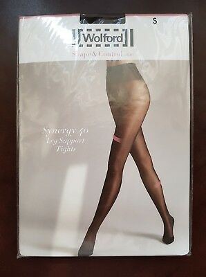 NEW Wolford Tights Synergy 40 Leg Support Tights Size S Mocca • 22£