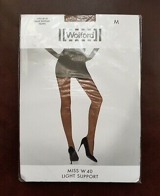 New Wolford Tights Miss W Light Support Size M In Terre • 16.99£