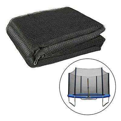 £45.57 • Buy Solid Trampoline Enclosure Net 15ft 10 Pole Bounce Bed Netting Protect Mesh