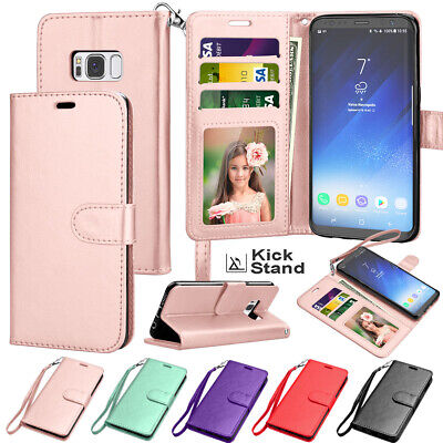 $ CDN8.80 • Buy For Samsung Galaxy S8 / S8 Plus Wallet Case Leather Holder Flip Magnetic Cover