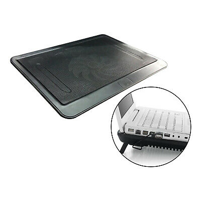 Notebook Laptop Cooler Mat Quiet Cooling Pad Stand Tray USB Powered 1 Fan • 10.56£