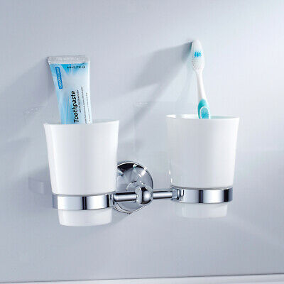 Home   Bathroom   Toothbrush   Holder   Tumbler   With   Cups   Wall - Mounted • 27.18£