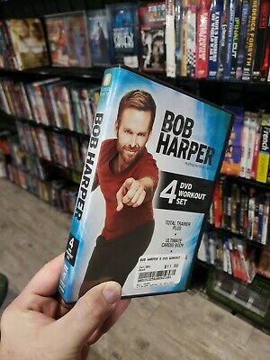 Bob Harper 4 DVD Workout Set Cardio Body & Conditioning Strength Total Trainer • 6.35£