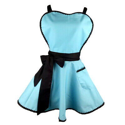 Lady Princess Blue Apron Cotton Apron With Pocket For Woman Cooking • 13.32£