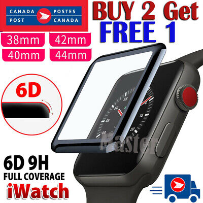 $ CDN5.99 • Buy For Apple Watch IWatch Series 2 3 4 5 6 SE 38/40/42/44mm Glass Screen Protector