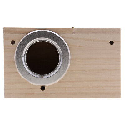 Wooden Budgie Nest Nesting Box & Perch For Cage Aviary With Opening Top M • 8.17£