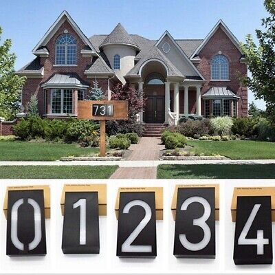 Solar Lighted Address Sign House Number Solar Powered IP Rating 65 6LED • 12.94£