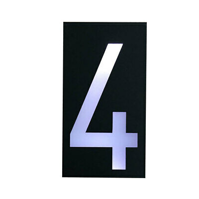 Solar Lighted Address Sign House Number Solar Powered IP Rating 65 6LED #4 • 14.34£