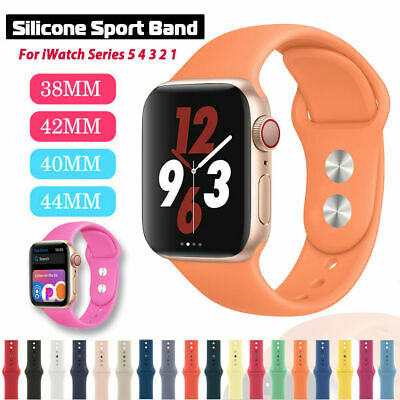 AU6.49 • Buy Silicon Sport Watch Band Strap For Apple Watch Series 6 5 4 3 2, 38/40mm 42/44mm