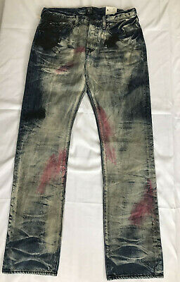 Prps Demon Fit Jeans Slim Fit Straight Paint Size 32x32.5 NEW • 125.17£