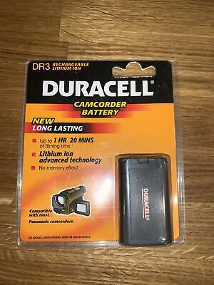 Duracell DR3 850 MAh Rechargeable Lithium Ion Camcorder Battery - Old Stock • 4.99£