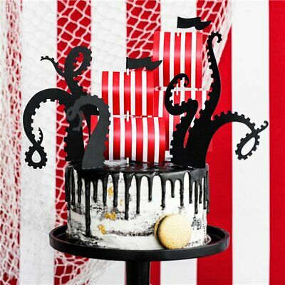 £3.95 • Buy Pirate Flag And Octopus Cake Decorating Kit Birthday Party DIY Decor Boys Ship